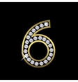 Number six sign vector image