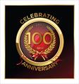 100 years anniversary label vector image