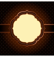 Dark seamless geometric pattern with vintage frame vector image vector image