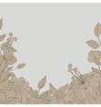 card flower leaves vector image