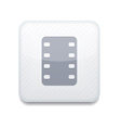 white film icon Eps10 Easy to edit vector image vector image