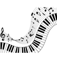 Musical note staff vector image vector image