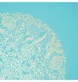 Blue ornamental card vector image vector image