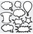 Speech Bubble Set  Comics Retro Design vector image vector image