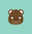 bear face expression vector image
