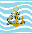 abstract design summer bakground with anchor and vector image