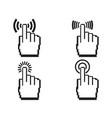 pixel hands icon set vector image