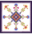 floral pattern folk vector image