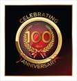 100 years anniversary label vector image