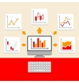Business Ratings and Charts Collection Infographic vector image