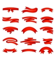 red ribons set isolaten on background vector image