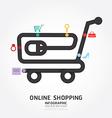 infographics online shopping design diagram vector image