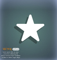 Favorite Star icon symbol on the blue-green vector image