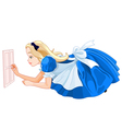 Alice Close to Small Door vector image