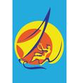 surfer poster vector image