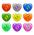 Cartoon colorful sewing buttons set vector image