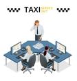 concept of taxi service technical car vector image