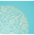 Blue ornamental card vector image