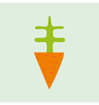 cartoon carrot element for your design vector image