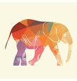 Cartoon elephant The silhouette of the elephant vector image