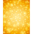 Golden background with snowflake and bokeh vector image