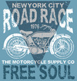 motorcycle typography t-shirt graphics vector image