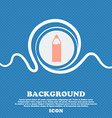 Plastic bottle with drink icon sign Blue and white vector image