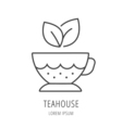 Simple Logo Template Tea cup vector image