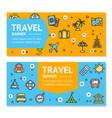 travel flyer banner placard set vector image