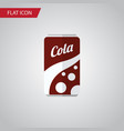 isolated cola flat icon fizzy drink vector image