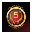 5 years anniversary label vector image