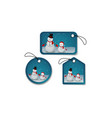 Set of Christmas bubbles stickers and labels vector image