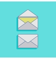 with mails in flat style design vector image