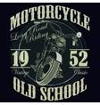 Motorcycle Racing Typography Graphics Racing T vector image vector image