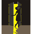 Woman in the Doorway vector image vector image