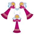 angels with flags vector image