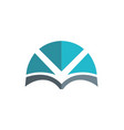 book abstract knowledge logo vector image