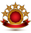 glamorous round element with red filling 3d vector image