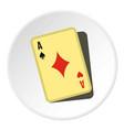 playing card icon circle vector image