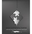 puzzle web icon design element vector image