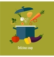 Recipe Vegetarian Vegetable Soup vector image