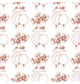seamless pattern with balloons and wooden arrow vector image