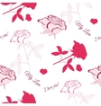 Seamless pattern with pink rose 6 vector image