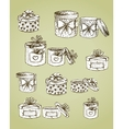 Set of gift present boxes vector image