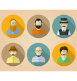 Set of male avatars or pictograms for social vector image
