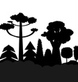 trees black silhouettes vector image