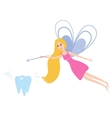 Tooth fairy with a magic wand vector image