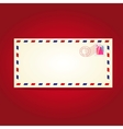 Postcard blank temlate with stamp vector image