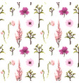 botanical flower seamless pattern flowers vector image