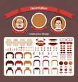 doodle faces puzzle vector image vector image